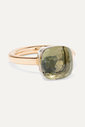 Pomellato Nudo Classic 18-karat Rose And White Gold Prasiolite Ring - Rose gold