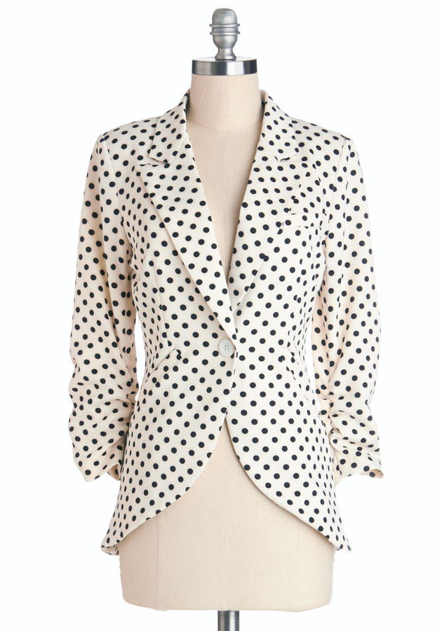 Fine and Sandy Blazer in Dots