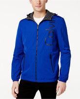 Calvin Klein Men's Reversible Hooded Windbreaker