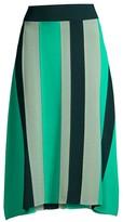 BOSS Faeve Colorblock Vertical Stripe Knit A-line Skirt