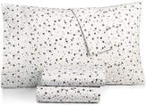 BCBGeneration Cotton Percale 200 Thread Count Ditsy Floral Queen Sheet Set