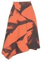 Bottega Veneta Asymetrical Printed Wool Skirt