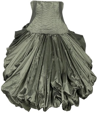 Alexander McQueen Grey Silk Skirt for Women Vintage