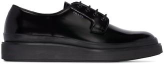 Prada wedge-sole Oxford shoes