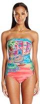 Anne Cole Women's Ocean Beach Bandeau One Piece Swimsuit