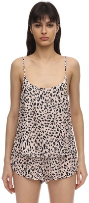 Les Girls Les Boys Animalier Print Viscose Camisole