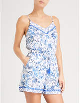 Jets Provence floral woven playsuit
