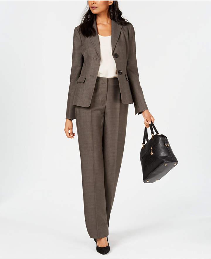 Two-Button Melange Pantsuit
