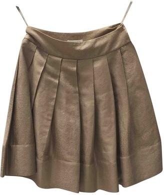 Celine Beige Linen Skirt for Women Vintage