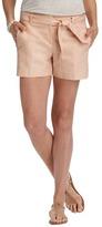 """LOFT Tie Waist Cotton Linen Twill Shorts with 4"""" Inseam"""