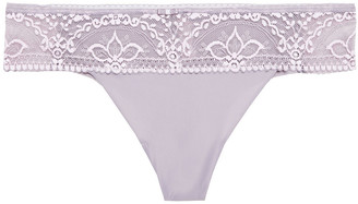 Wacoal Stretch-jersey And Lace Low-rise Briefs