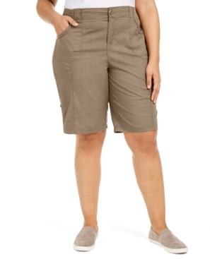 Style&Co. Style & Co Plus Size Cotton Bermuda Shorts, Created for Macy's