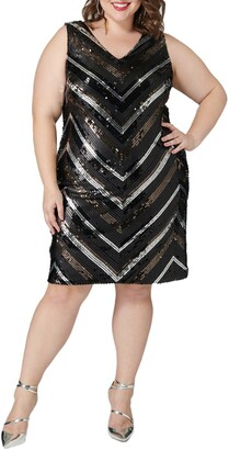 Maree Pour Toi Sequin Sheath Dress