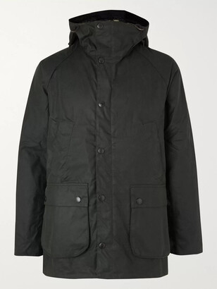 Barbour White Label White Label Bedale Slim-Fit Waxed-Cotton Hooded Jacket