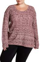 Susina Long Sleeve Hatchi Knit Sweater (Plus Size)