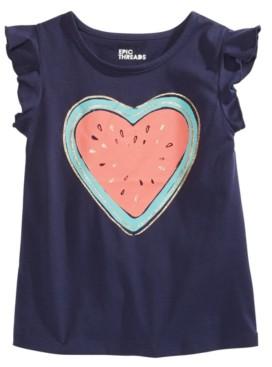 Epic Threads Little Girls Melon Heart Flutter Top, Created for Macy's