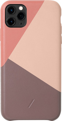 Native Union Clic Marquetry Protective Leather Case with Card Holder for iPhone 11 Pro Max