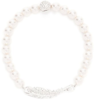 Swarovski Nice Feather Pearl Bracelet