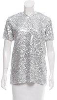 Nina Ricci Embellished Short Sleeve Top