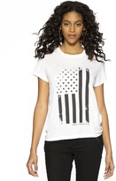 Peace Love World Everyday Is Independence Day White Crew Neck Tee