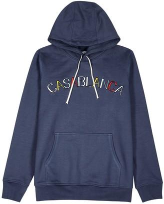 Casablanca Navy logo-embroidered cotton sweatshirt