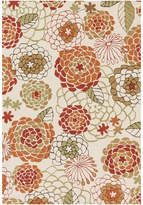 Loloi Rugs Loloi Francesca Collection Rug, Ivory and Spice, 3'x3' Round
