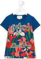 Gucci Kids - floral print T-shirt - kids - Cotton - 4 yrs