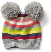 Gap Crazy stripe pom-pom hat