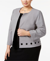 Nine West Plus Size Grommet-Trim Jacket