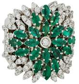 Carla Amorim 18K Emerald & Diamond Cocktail Ring