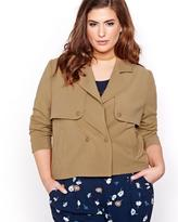 Addition Elle Cropped Trench Jacket