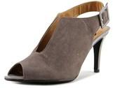J. Renee Myra Women Peep-toe Suede Gray Slingback Heel.