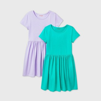 Cat & Jack Girls' 2pk Short Sleeve Knit Dress - Cat & JackTM
