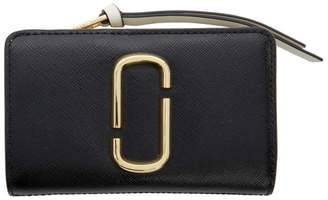 Marc Jacobs Black and Grey Snapshot Compact Wallet