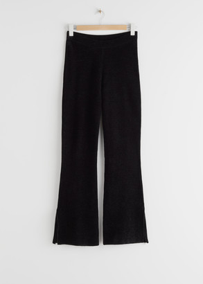 And other stories Flared Side Slit Knit Leggings