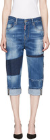 DSQUARED2 Blue Patchwork Kawaii Jeans