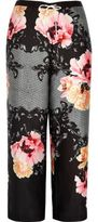 River Island Womens Plus black floral print pajama pants