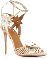 Aquazzura X Poppy Delevingne Leather Moon and Star Sandals