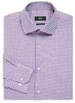 HUGO BOSS Regular Fit Plaid Dress Shirt