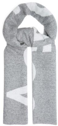 Acne Studios Toronty Intarsia Wool-blend Scarf - Grey