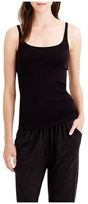 J.Crew Slim Perfect Tank Top with Built-In Bra (Black) Women's Clothing