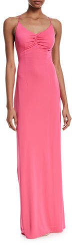 Maria Bianca Nero Donna Crisscross Backless Long Gown