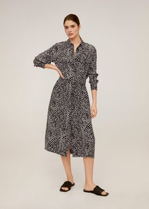 MANGO Pockets shirt dress black - 2 - Women