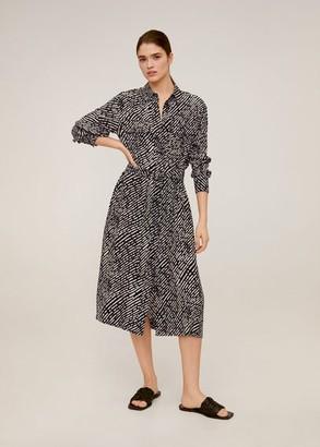 MANGO Pockets shirt dress fuchsia - 2 - Women