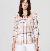 LOFT Plaid Softened Shirt