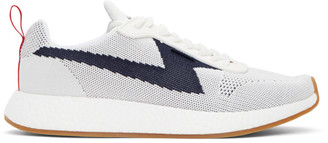Paul Smith White and Navy Zeus Sneakers