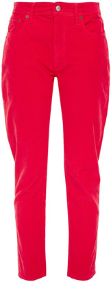 Acne Studios Melk Cropped Stretch Cotton-corduroy Tapered Pants