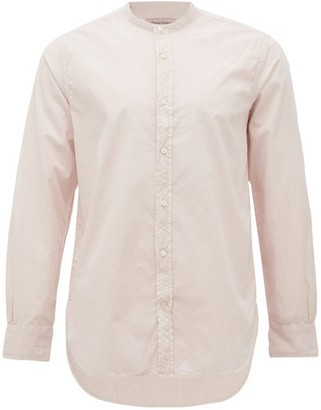 Officine Generale Gaspard Garment-dyed Cotton-blend Seersucker Shirt - Pink