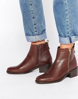 Oasis Zip Detail Ankle Boots