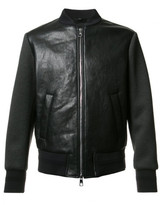 Neil Barrett Tattooed Statue leather bomber jacket
